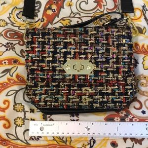 Steve Madden purse multi color w/gold detail